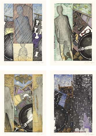 the seasons spring summer fall winter set of 4 by jasper johns
