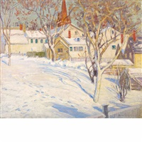 town hill, ipswich - winter sunlight by theodore wendel
