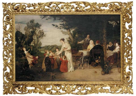 the end of the good meal by friedrich august von kaulbach