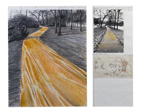 wrapped walkways project for jacob l loose park kansas city missouri diptych by christo and jeanne claude