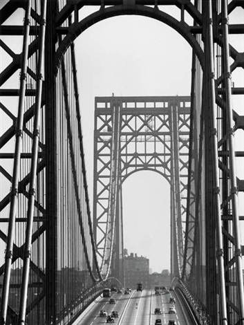 george washington bridge new york city by andreas feininger