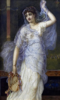 a classical dancing girl by augustus jules bouvier