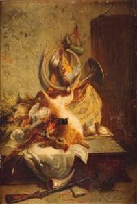 nature morte au gibier by jean alexandre rémy couder
