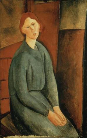 portrait de anne bjarne by amedeo modigliani