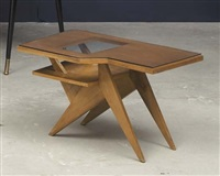 two-tiered side table by franco campo