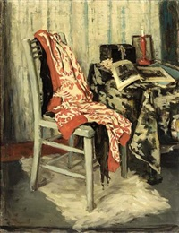 still life with kimono and chair by marie van regteren altena