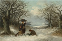 family gathering the christmas holly by thomas smythe