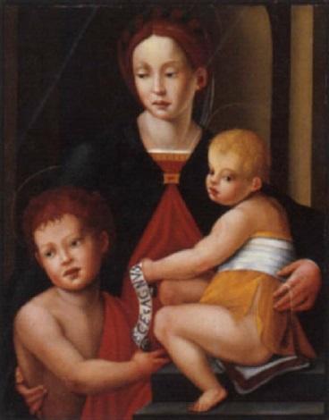 madonna con bambino e san giovannino by giuliano bugiardini