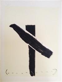 lithographie originale by antoni tàpies