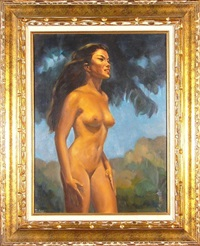 standing nude woman by ralph tyree