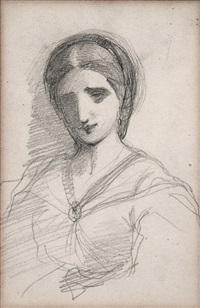 retrato de joven (boceto) by eduardo rosales martínez