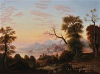river valley view at sunset by american school-hudson river (19)
