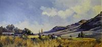 farm scene near clarens by ted (tjeerd adriaanus johannes) hoefsloot
