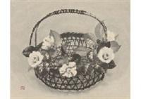 camelia in basket by akira akizuki