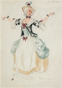 costume design for a dancing maiden in les sirenes by cecil beaton