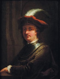 portrait (rembrandt?) by aert de gelder