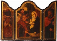 the adoration of the magi by master of saint sang