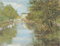 sommer an der ilime in weimar by theodor hermann