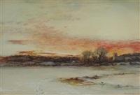 winter landscape by arthur parton