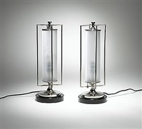 table lamps (pair) by robert locher