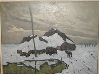 kempische boerderij in de winter by jules verstreken