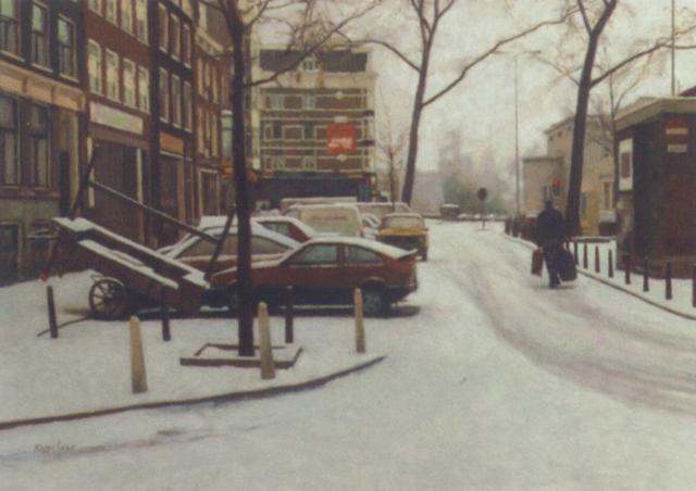haarlemmerplein winter by frans koppelaar