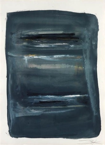 abstract with blue and black by larry zox