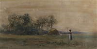 landscape with a figure by paul désiré trouillebert