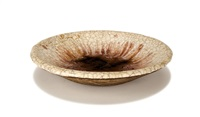 footed bowl by glen lukens