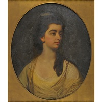 portrait of young woman by francis cotes