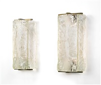 a rare pair of wall sconces by eugene printz