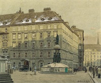 die freyung in wien by ferdinand zach