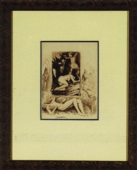 erotic scenes with monks and maidens by paul-emile becat