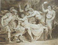 the death of alcibiades by johannes jacobus lens