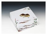 box with a quail pattern by fujimoto yoshimichi