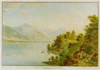 vue de ringgenberg sur le lac de brienz by simon daniel lafond