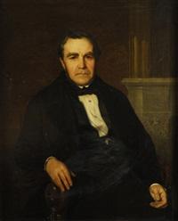 retrato de don gregorio lópez mollinedo sentado by carlos luis de ribera y fieve