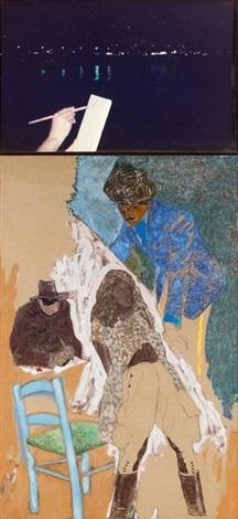 le peintre nocturne ii le fakir mixed media on canvas lrgr 2 works by jean le gac