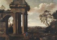 paesaggio con rovine classiche e pastori con armenti by italian school-roman (17)