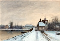 winters vaart in voorburg by louis apol