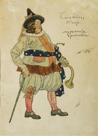 costume de musicien pour le ballet solveig d'après grieg by aleksandr yakovlevich golovin