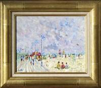 la plage de deauville by christian baechler