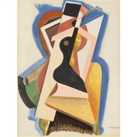 composition (femme assise) by alexander archipenko