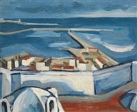 le port d'alger vu des terrasses d'abd-el-tif by georges le poitevin