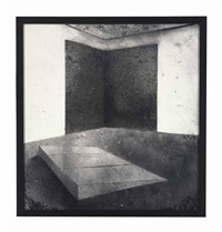 pictures of dust (donald judd, untitled, 1965 and richard serra, left corner rectangles, 1979) by vik muniz
