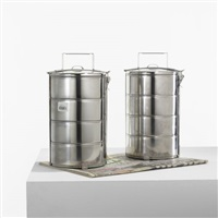 untitled (lunch boxes) (pair) by rirkrit tiravanija