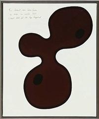en klodset; men brun form og derfor en smule bøvet tekst på den lyse baggrund / så enkel og dog så brun by poul agger