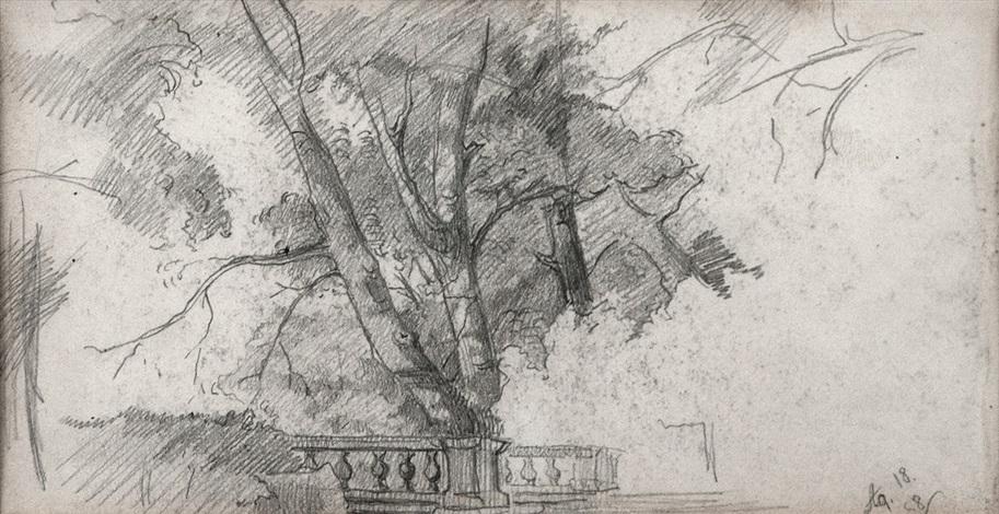 balaustrada en el jardín by eduardo rosales martínez