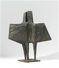maquette v winged figures by lynn chadwick