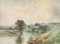 river scene by arthur parton